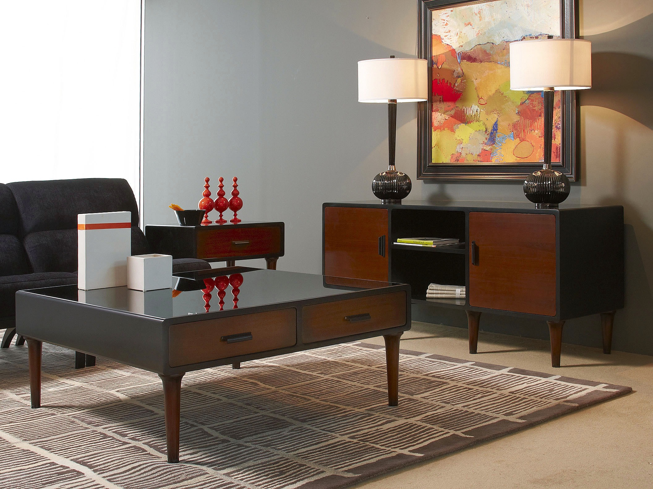 Mid Century Modern Living Room Tables Practical And Functional Home Furnishings Ideas 17349