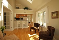Combined Kitchen And Living Room Interior #17177