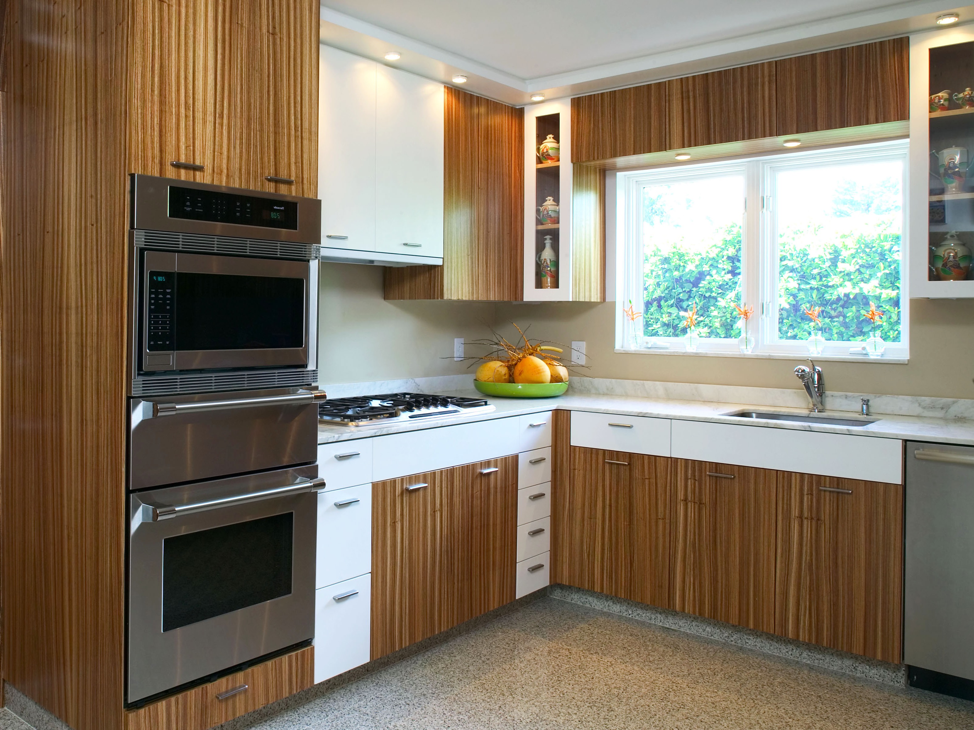 Kitchen Cabinet Wood Reconditioning Zebra Wood Kitchen Cabinets Image To U