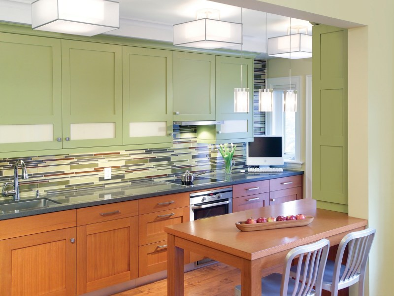 Large Of Green Kitchen Cabinets