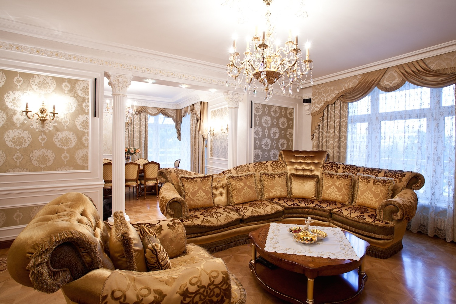 ... Middle Eastern Arabian Style Living Room With Elegant Sofa And  Lighting. Download Part 89
