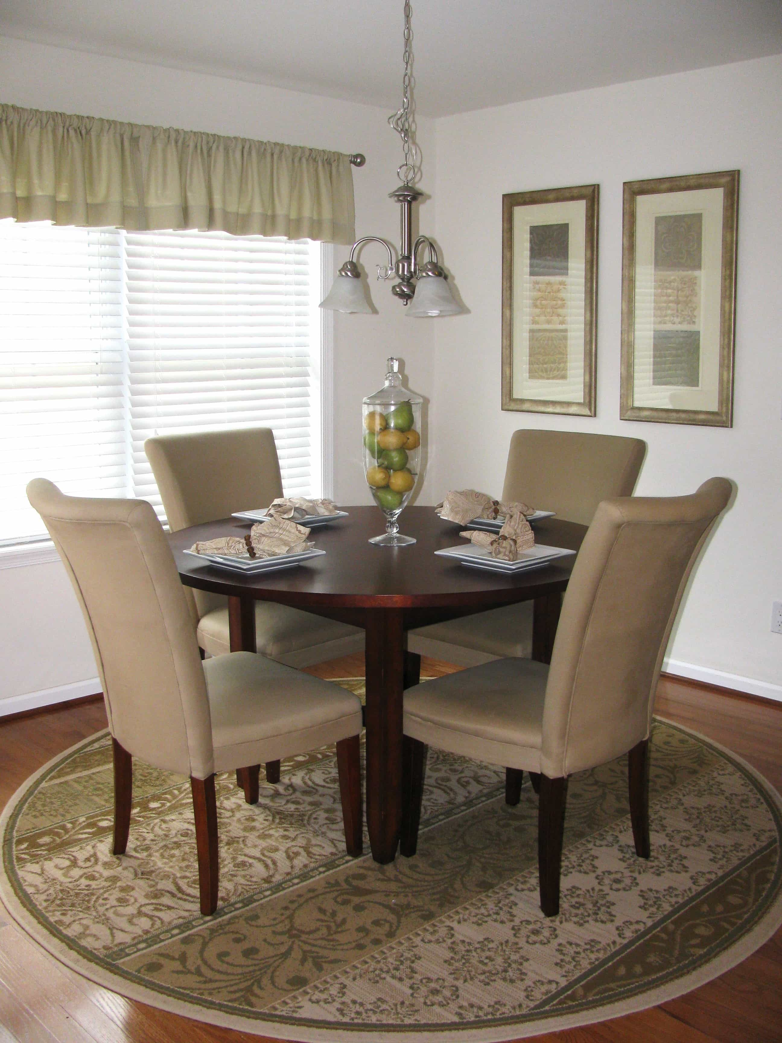Rug Under Round Dining Table What You Have To Think Before Choose A Rugs #1446 | Rugs