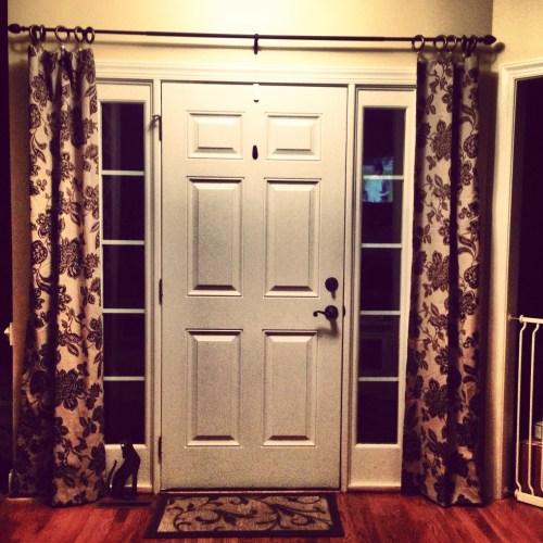 Medium Of Front Door Curtains