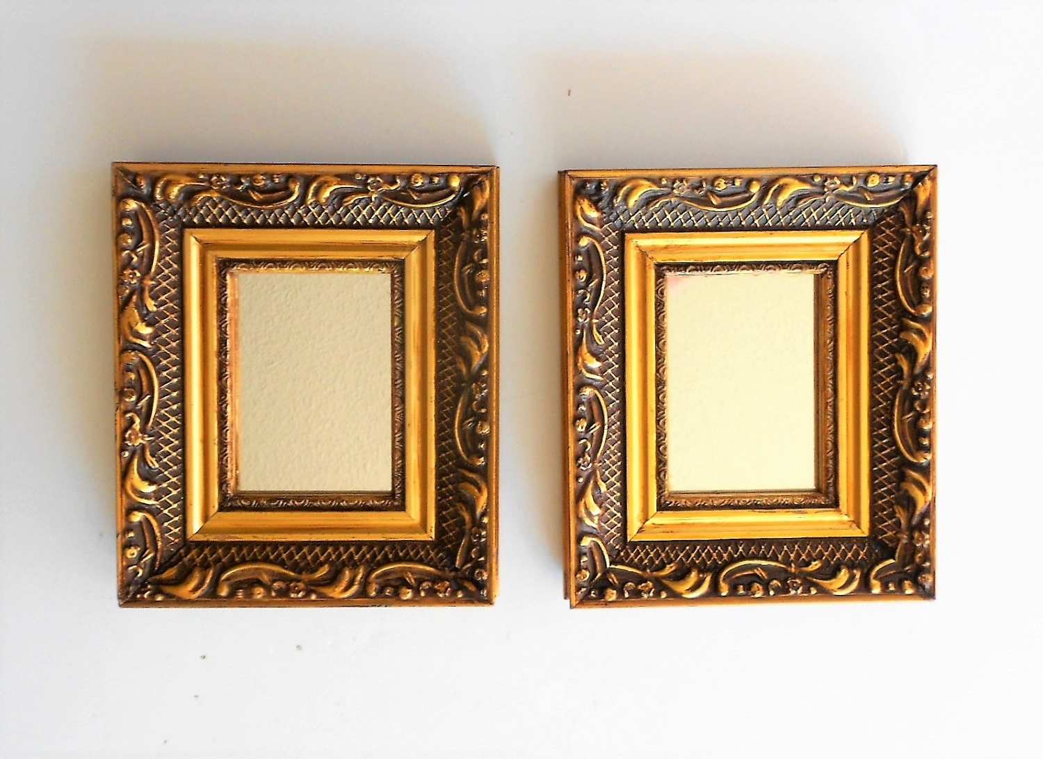 Small Gold Mirror Set Small Ornate Mirrors Mirror Ideas