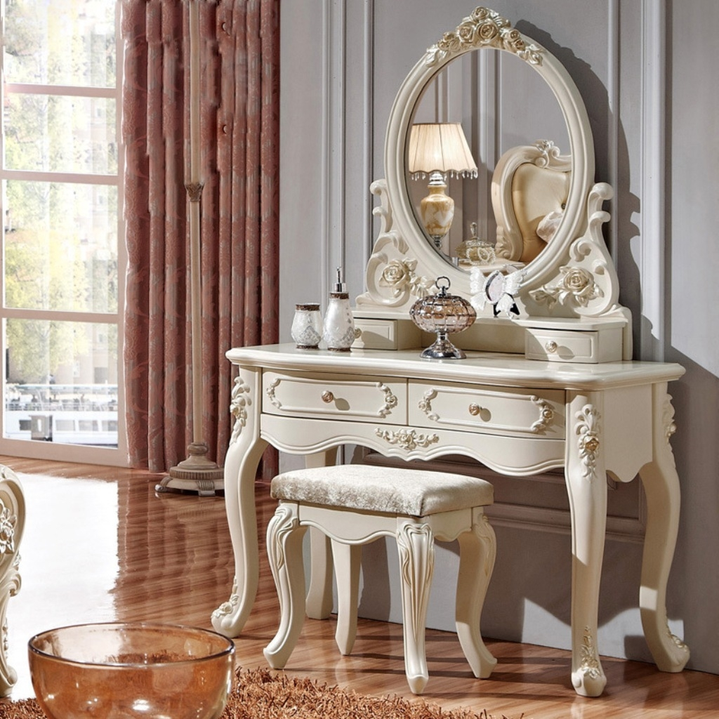 White Vanity Table And Chair 15 Best Ideas Ornate Dressing Table Mirror Mirror Ideas