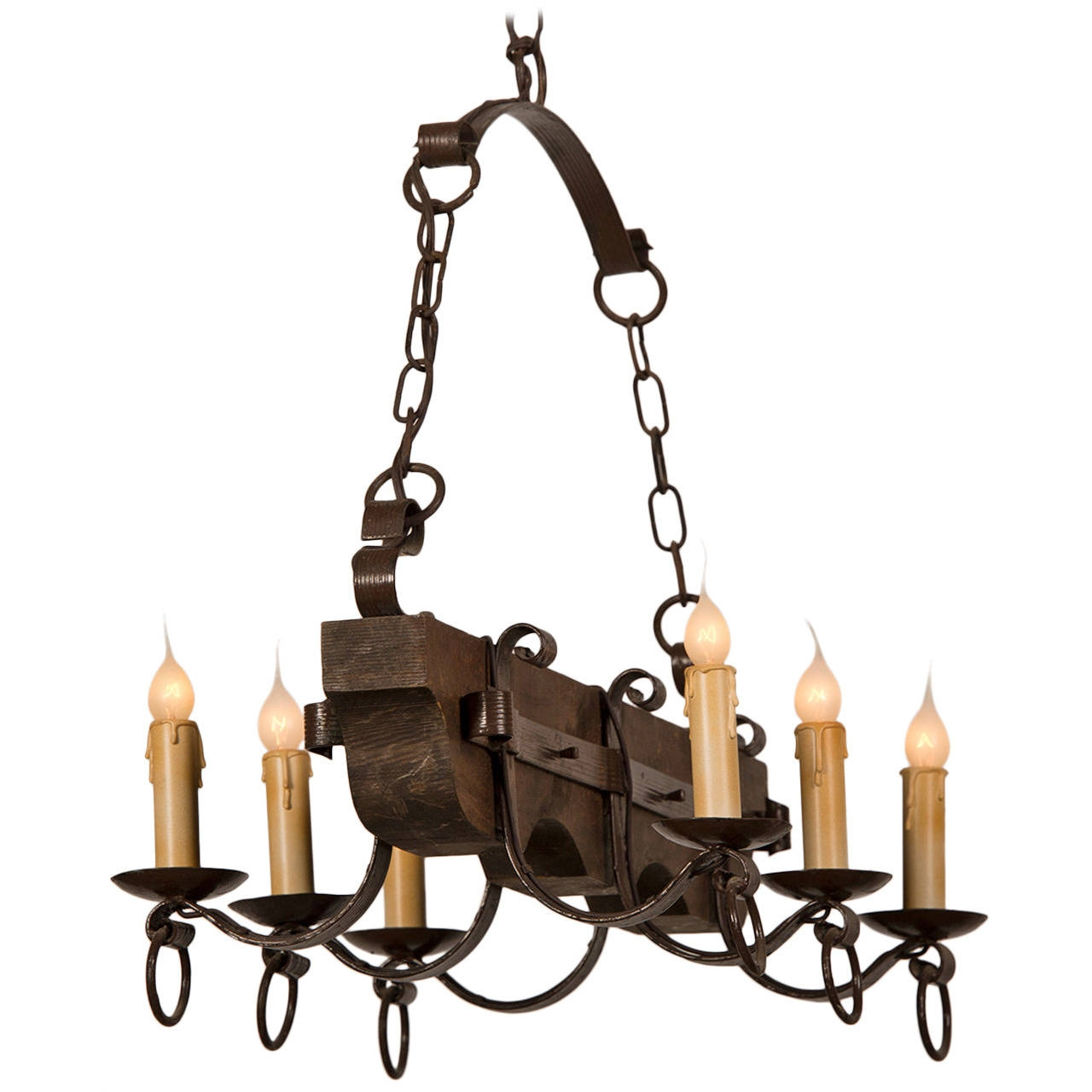 Wrought Iron Rectangular Chandelier Vintage Wrought Iron Chandelier Chandelier Ideas