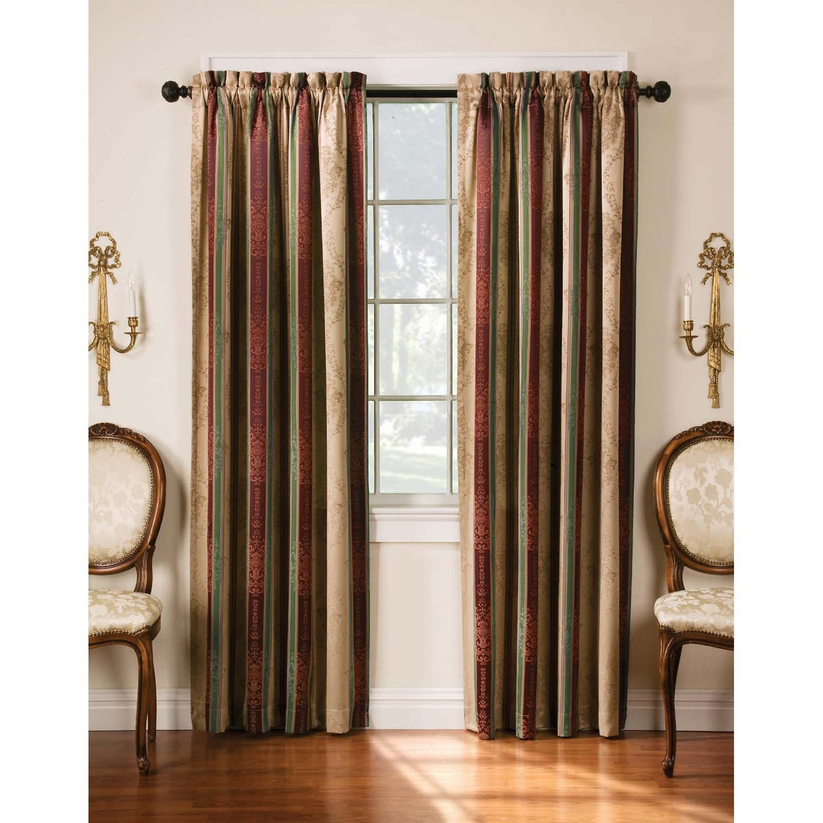 Earth Tone Curtains 15 Collection Of Multi Coloured Striped Curtains Curtain