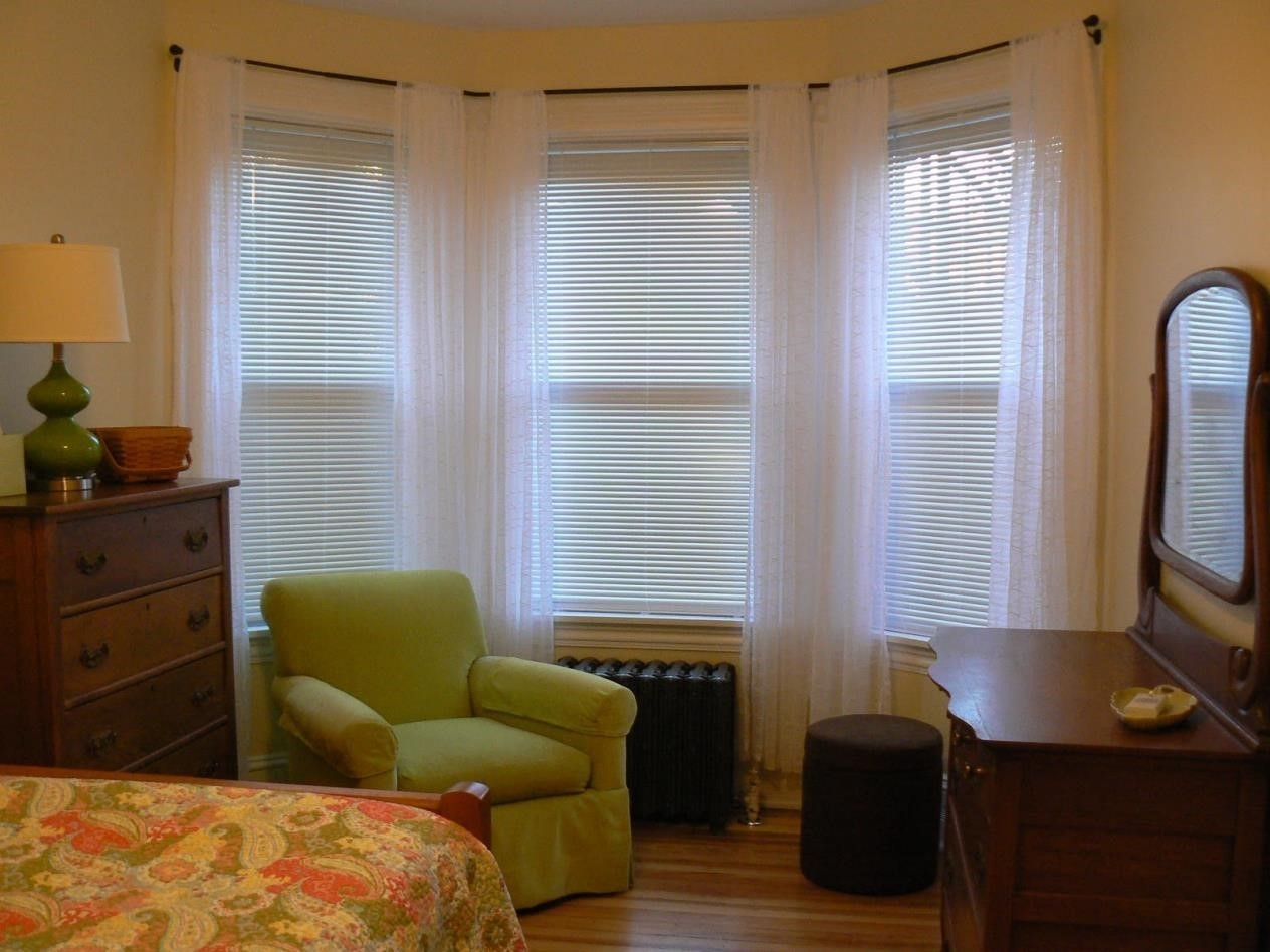Bedroom Window Design 15 Collection Of Blackout Curtains Bay Window Curtain Ideas