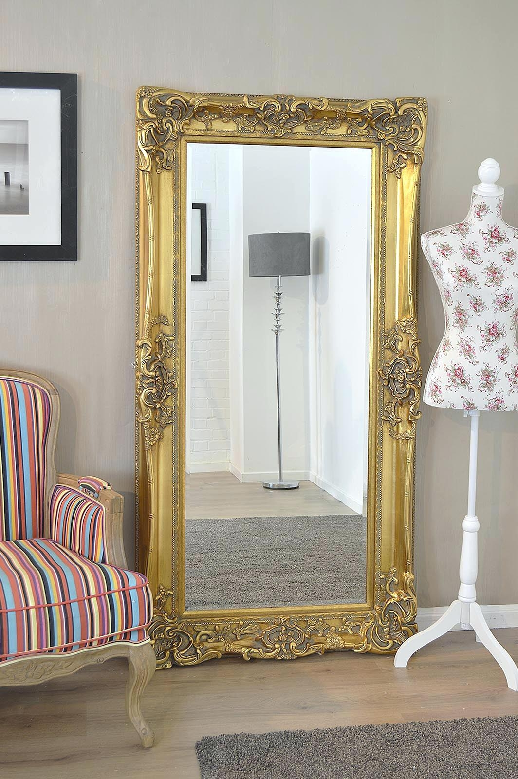 Free Standing Mirror Very 15 Collection Of Antique Gold Mirrors Large Mirror Ideas