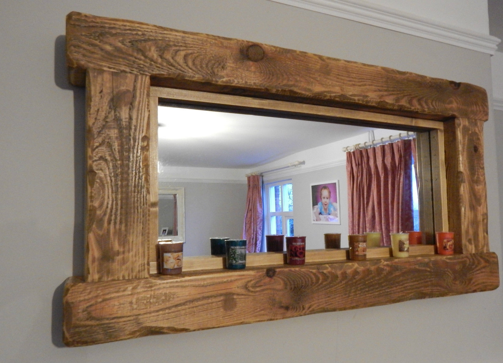 Wood Frame Mirror For Bathroom 15 Collection Of Rustic Oak Framed Mirrors Mirror Ideas