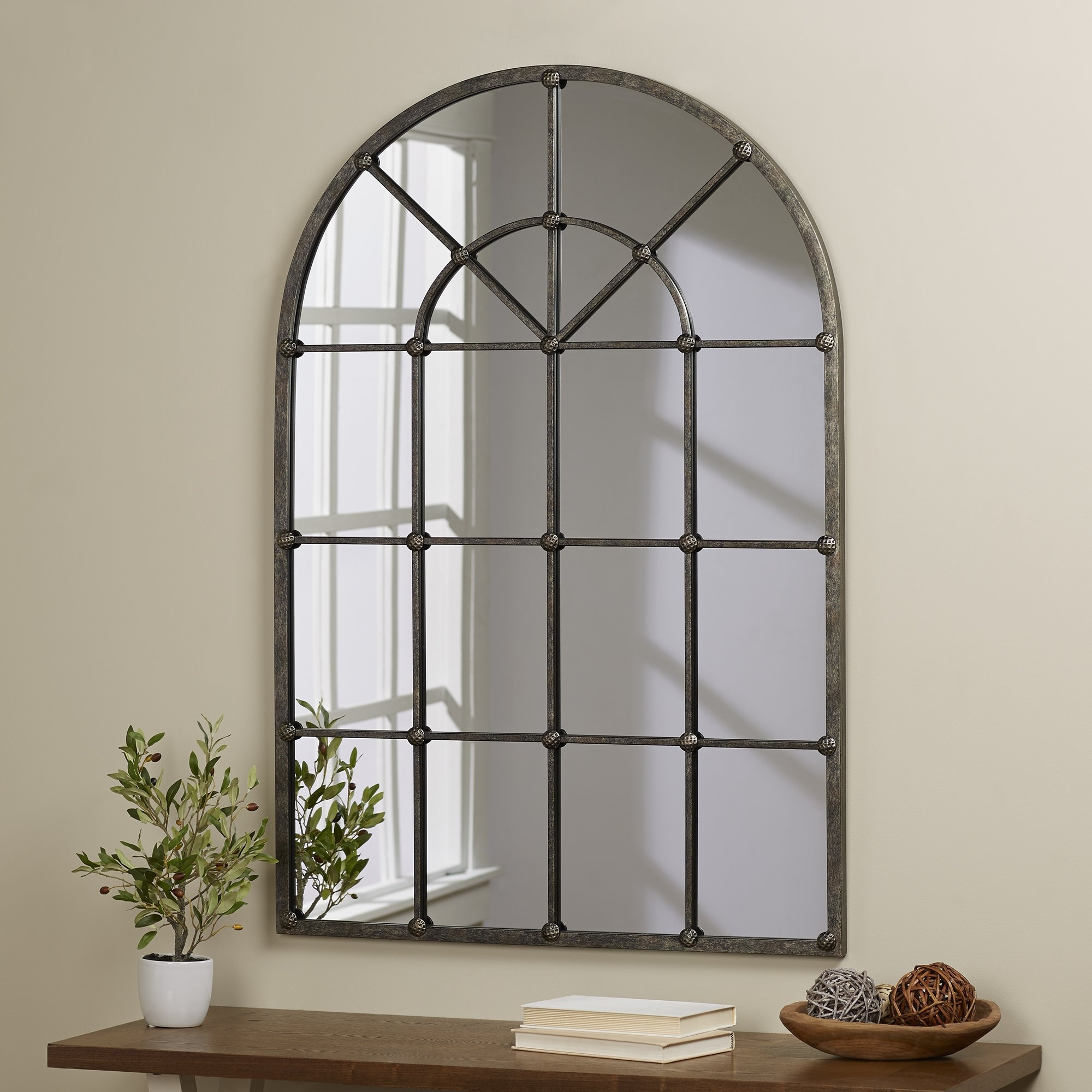 Loft Style Window Mirror 15 Collection Of Arched Wall Mirrors Mirror Ideas