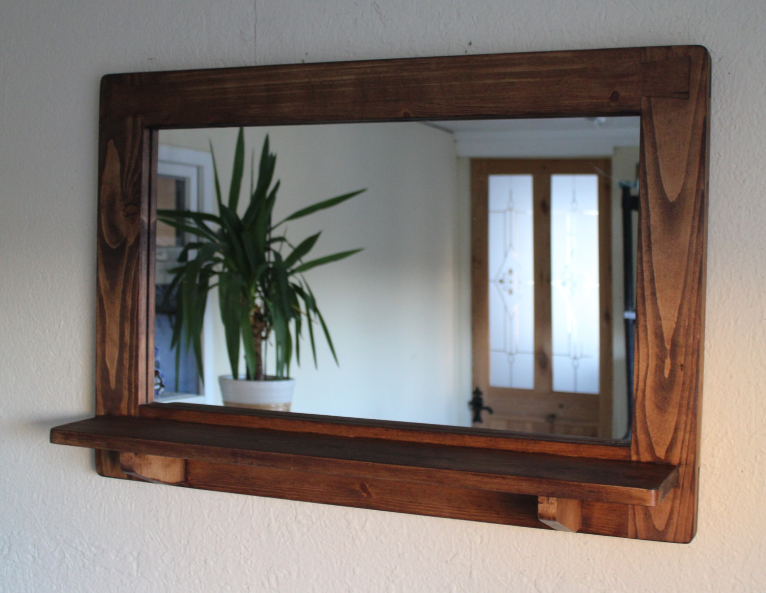 Wood Framed Bathroom Vanity Mirrors 15 Collection Of Rustic Oak Framed Mirrors Mirror Ideas