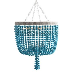 Small Of Wood Bead Chandelier