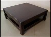 40 Photos Square Dark Wood Coffee Table   Coffee Table Ideas