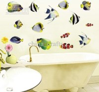 20 Collection of Fish Decals for Bathroom | Wall Art Ideas