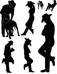 20 Best Collection of Western Metal Art Silhouettes | Wall ...