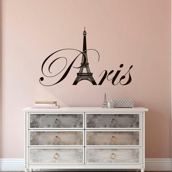 Girls Wallpaper Decals With Eiffel Tower 20 Ideas Of Paris Theme Wall Art Wall Art Ideas