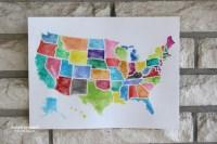 20 Ideas of United States Map Wall Art | Wall Art Ideas