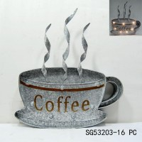 Metal Coffee Cup Wall Art   Wall Art Ideas