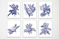 20 Collection of Blue and White Wall Art | Wall Art Ideas
