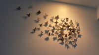 20 Ideas of Ceramic Butterfly Wall Art | Wall Art Ideas