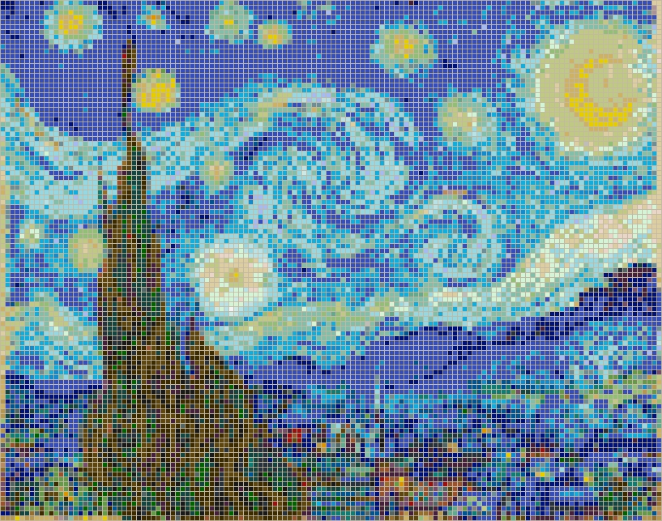 20+ Pixel Mosaic Wall Art
