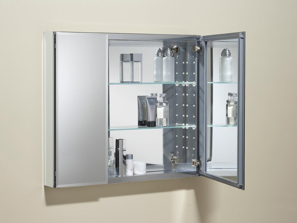 3 Door Mirrored Bathroom Cabinet 20 Collection Of 3 Door Medicine Cabinets With Mirrors