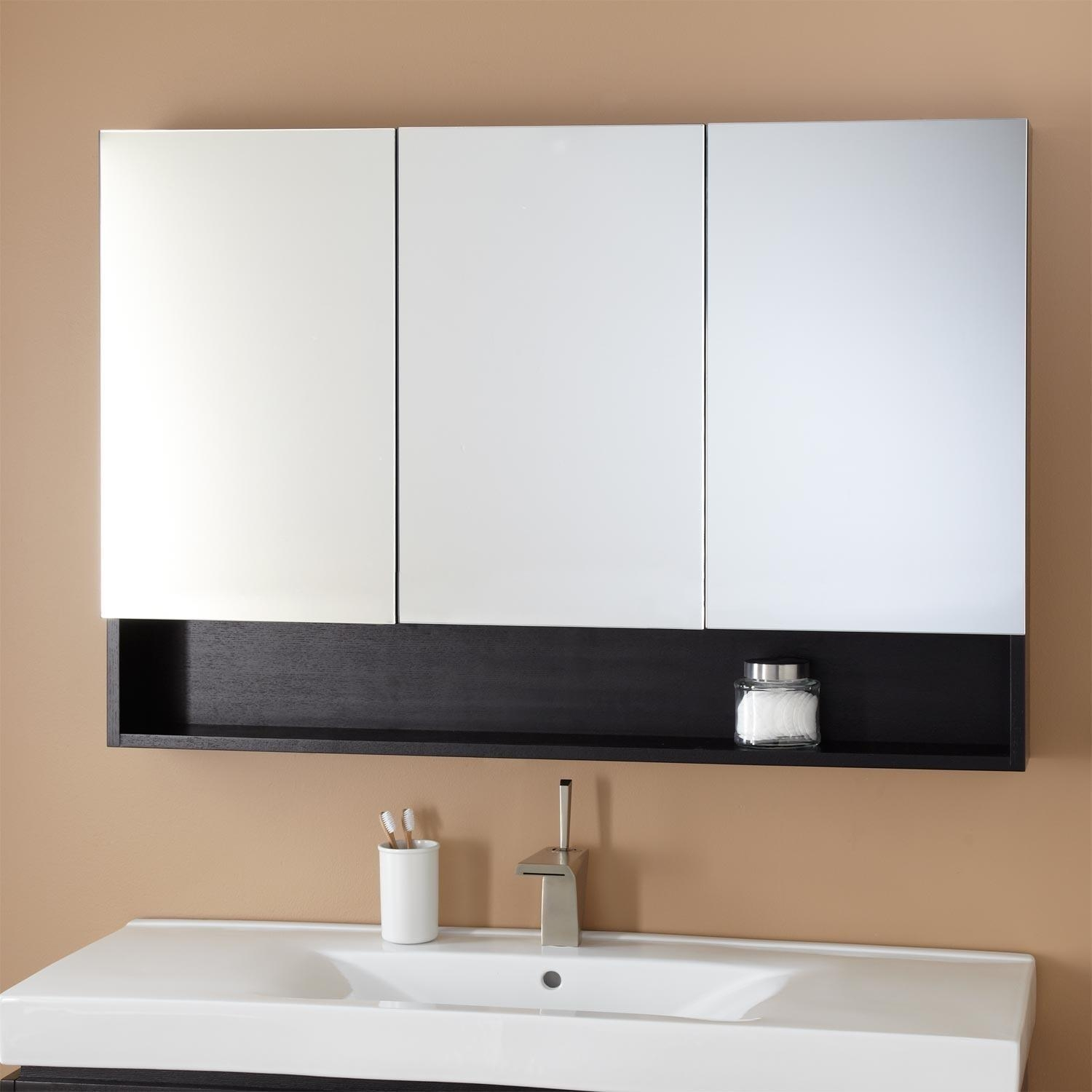 Bathroom Mirror Medicine Cabinet With Lights 20 Photos Bathroom Vanity Mirrors With Medicine Cabinet