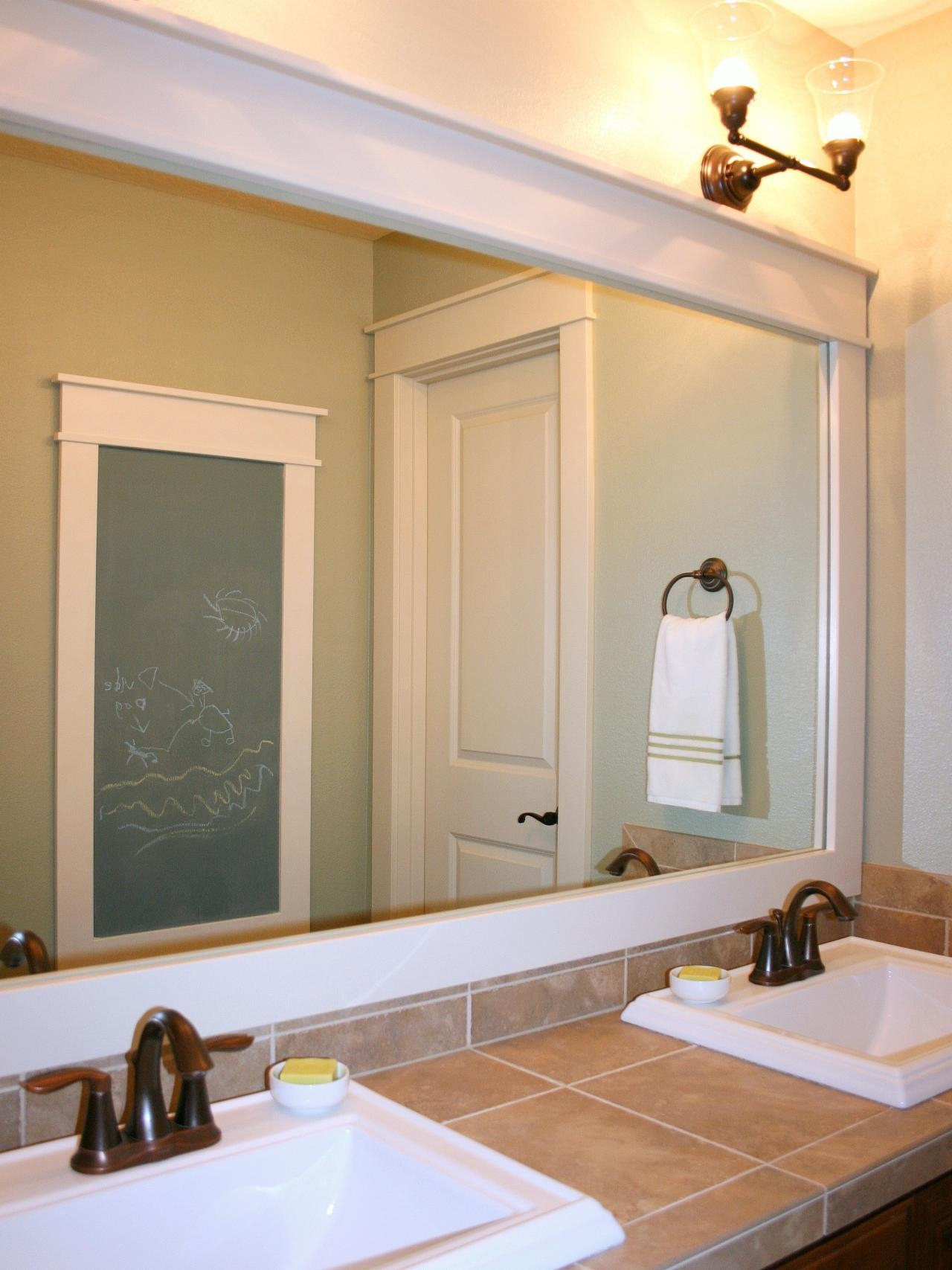 Bathroom Big Mirrors 20 Inspirations Large Framed Bathroom Wall Mirrors