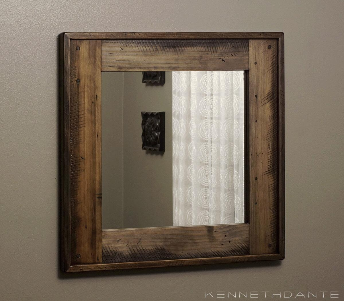 Wood Frame Mirror For Bathroom 20 Inspirations Natural Wood Framed Mirrors Mirror Ideas
