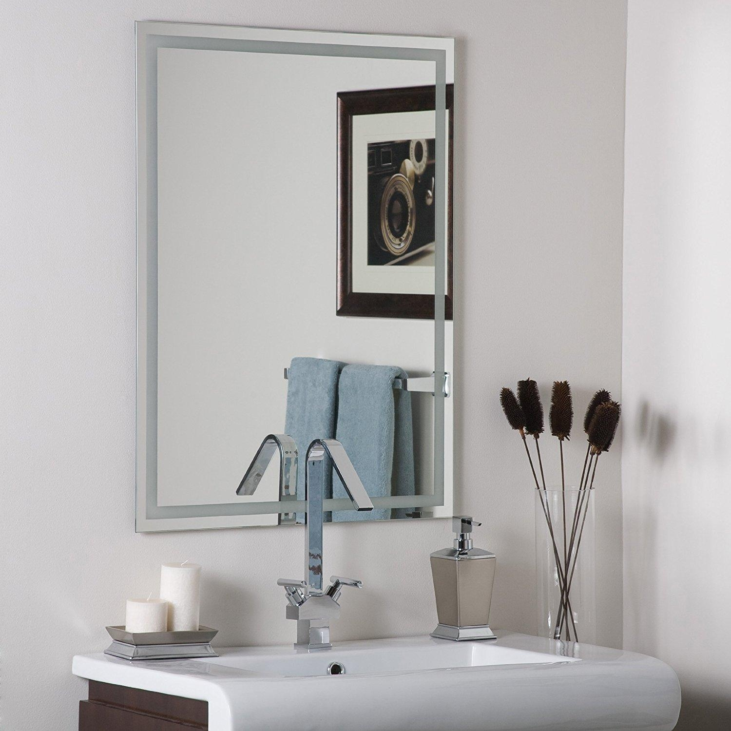 Frames For Bathroom Wall Mirrors 20 Ideas Of No Frame Wall Mirrors Mirror Ideas