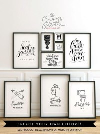 20 Photos Black and White Bathroom Wall Art | Wall Art Ideas
