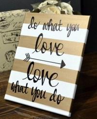 Diy Canvas Wall Art Quotes | Wall Art Ideas