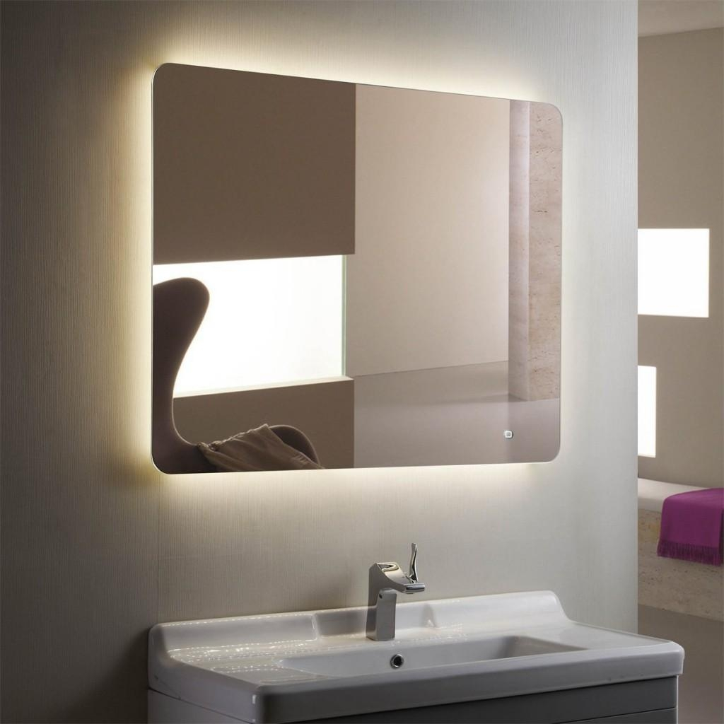 Bathroom Mirrors And Lighting 20 Photos Led Strip Lights For Bathroom Mirrors Mirror Ideas