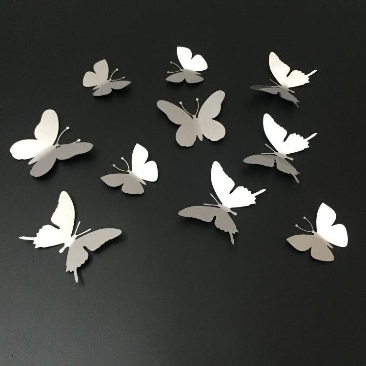 20 Inspirations White 3D Butterfly Wall Art