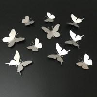 20 Inspirations White 3D Butterfly Wall Art