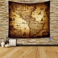 Vintage World Map Wall Art | Wall Art Ideas