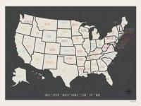 20 Inspirations State Map Wall Art