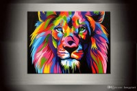 20 Best Collection of Abstract Lion Wall Art   Wall Art Ideas