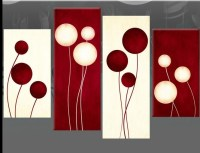 Topic: Red Floral Canvas Wall Art