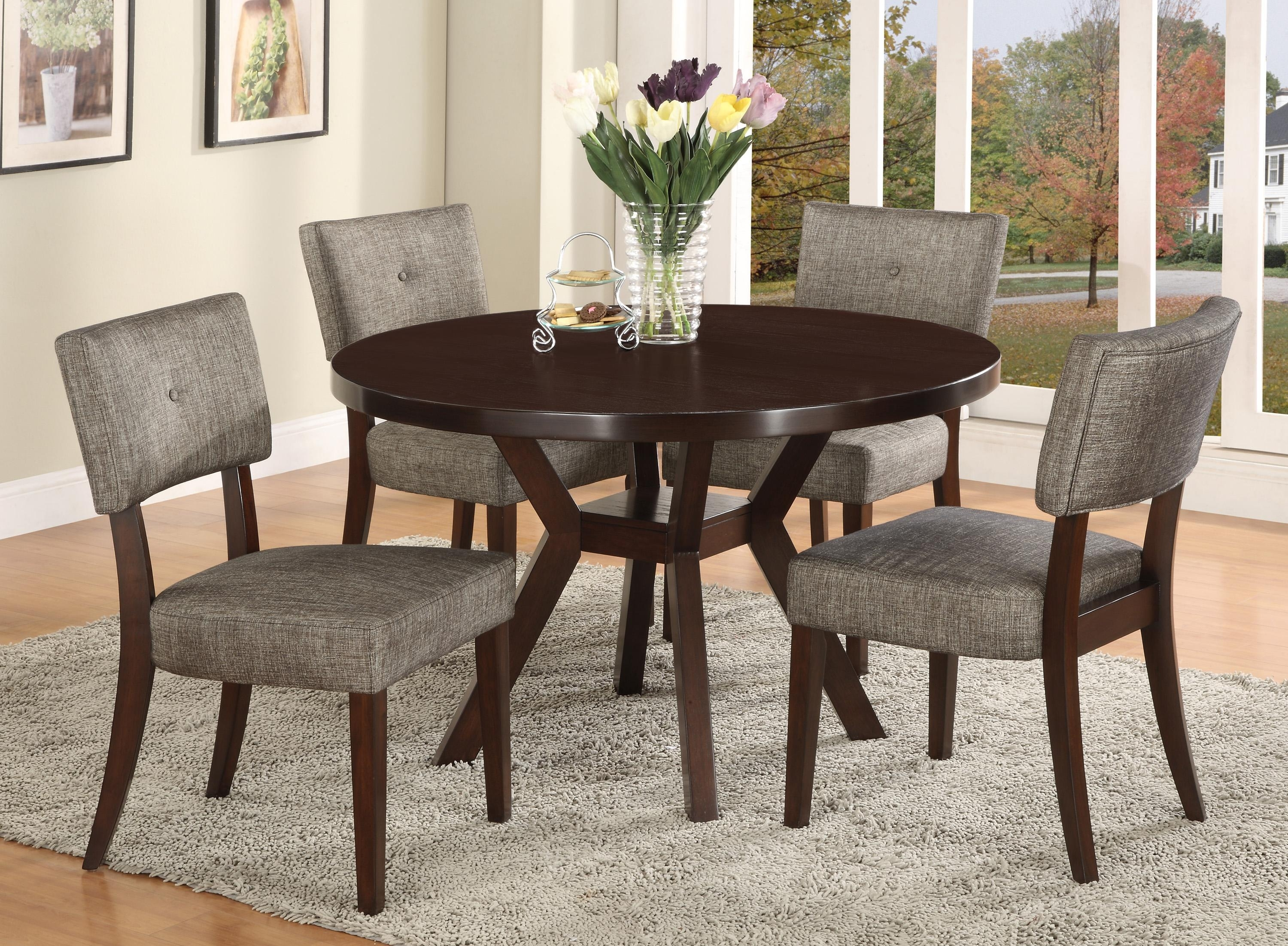 Dining Table To Seat 20 20 43 Valencia 5 Piece Round Dining Sets With Uph Seat Side