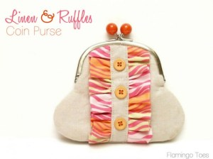 Linen and ruffles coin purse tutorial