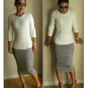 Knit pencil skirt tutorial from MimiG.