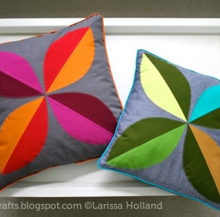 Four Leaf Pillow Cover tutorial with piping