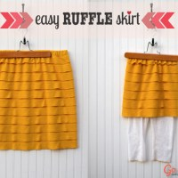 Easy Ruffle Skirt Tutorial from GoToSew.com #diy #skirt #tutorial