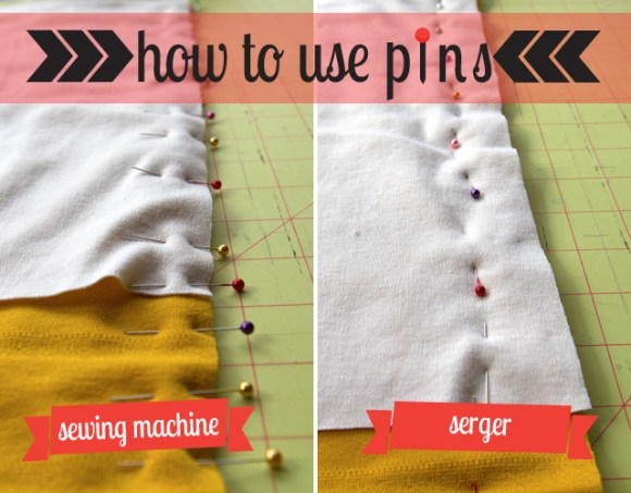 How to use pins while sewing