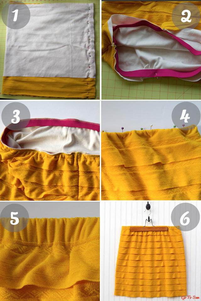 Ruffle knit skirt tutorial from gotosew.com
