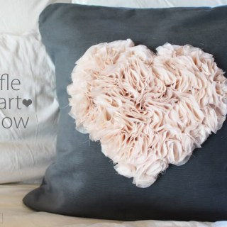 Featured: Flower Heart Pillow Tutorial