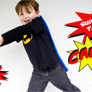 How to Sew a Superhero T-Shirt Cape