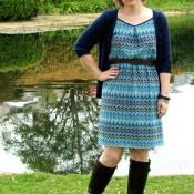 Simply Lovely dress pattern sewn by Flamingo Toes